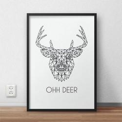 Plakat z jeleniem \