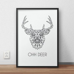 "Plakat z jeleniem ""Ohh deer"""