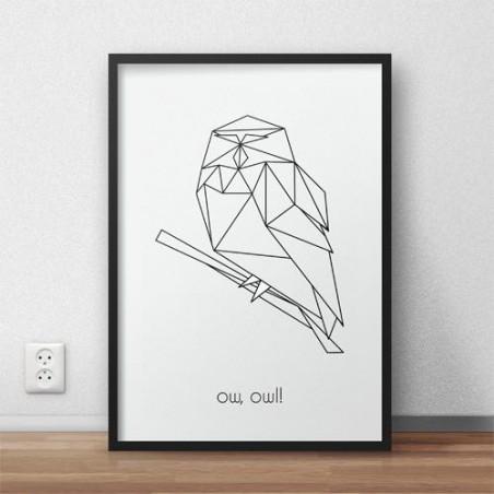 """Plakat z sową """"Ow, owl"""""""