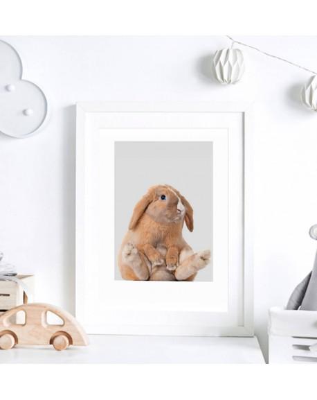 Plakat do pokoju dziecka - Rudy Zajączek