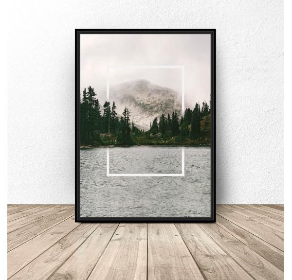 Plakat Prostokąt w jeziorze