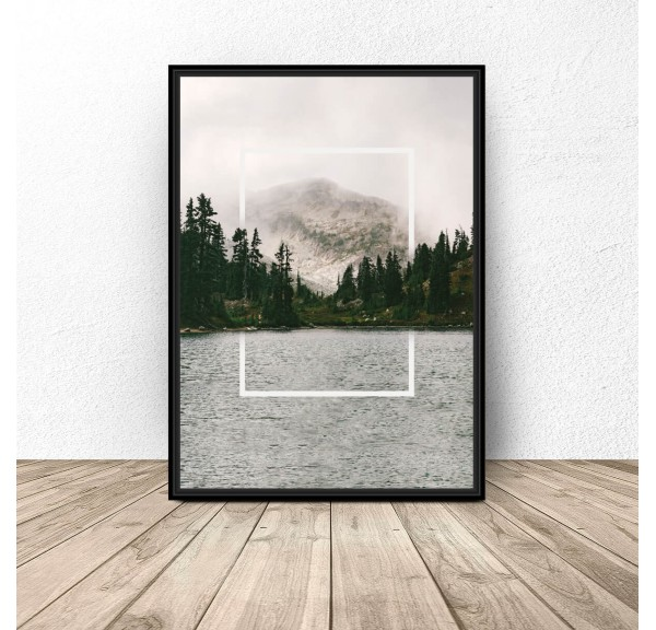 Poster Rectangle in the Lake
