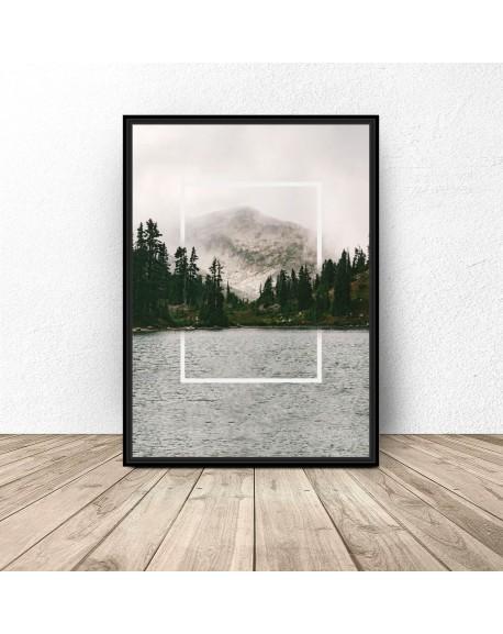 """Plakat """"Prostokąt w jeziorze"""""""