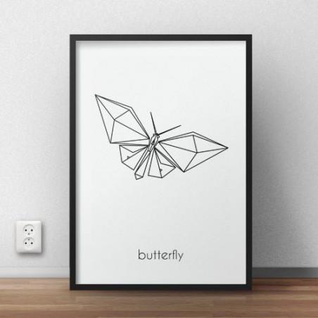 """Plakat z motylem """"Butterfly"""""""
