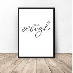 """Plakat motywacyjny """"Enough"""""""