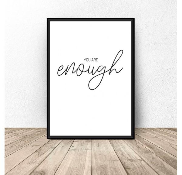 Plakat motywacyjny Enough