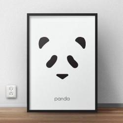 Plakat z misiem panda