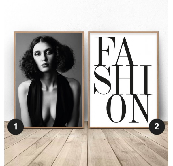 Set of two posters Fashion