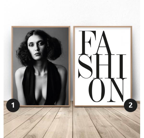 Zestaw dwóch plakatów Fashion