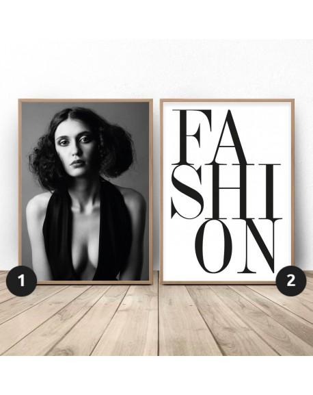"""Zestaw dwóch plakatów """"Fashion"""""""