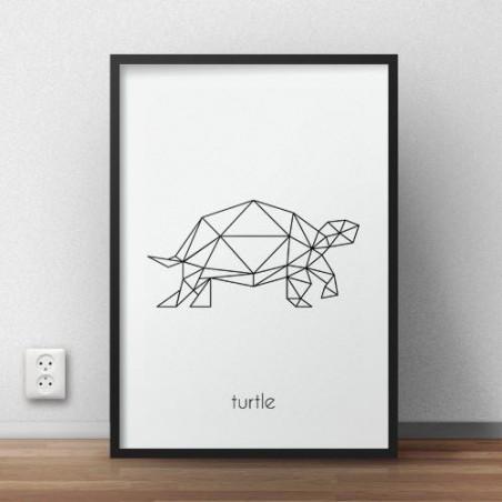 """Plakat z żółwiem """"Turtle"""""""