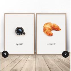 """Zestaw dwóch plakatów """"Francuskie śniadanie"""""""