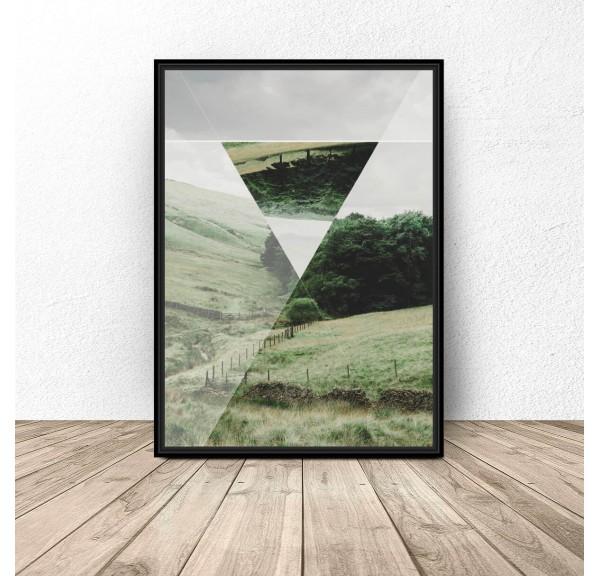 Plakat Trójkąt w polu
