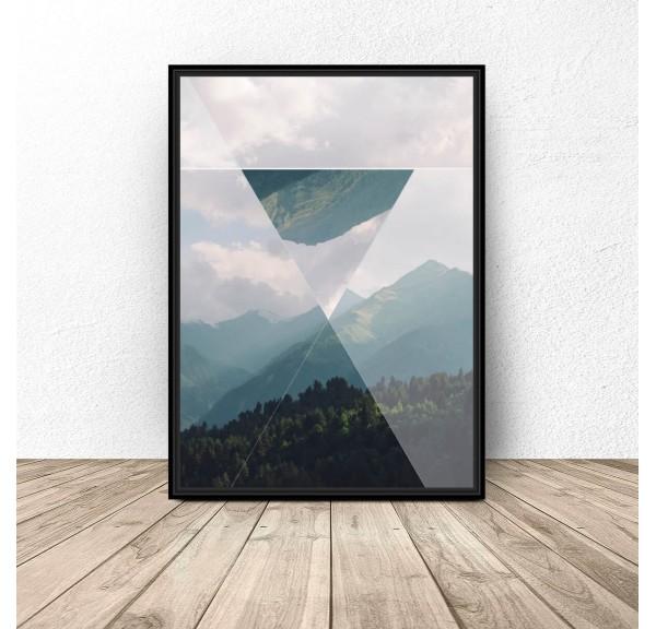 Plakat Trójkąt w górach
