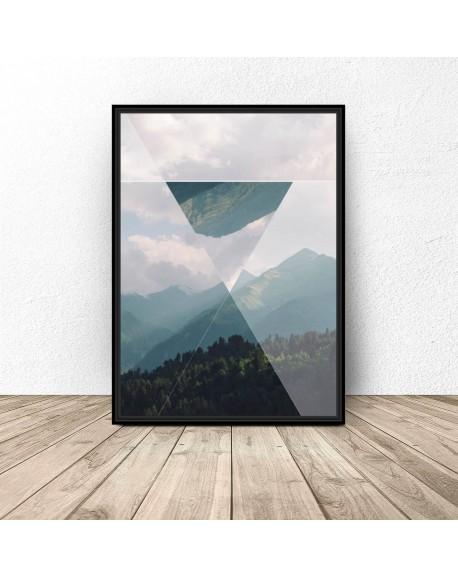 """Plakat """"Trójkąt w górach"""""""