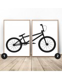 Set of 2 posters with BMX bike