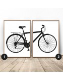 Set of 2 posters with city bike
