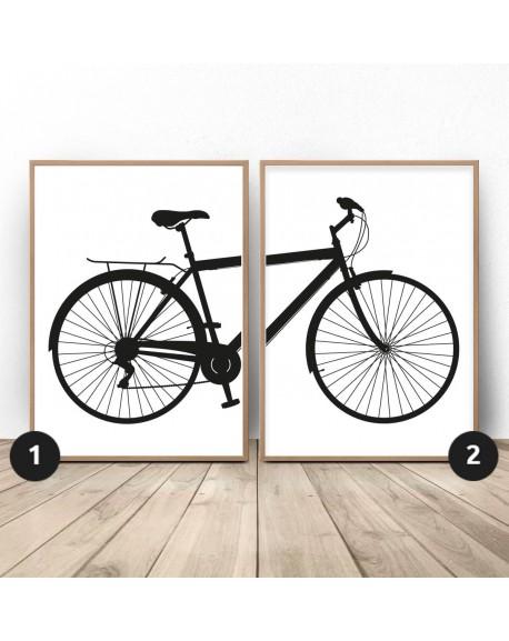 Zestaw 2 plakatów z rowerem miejskim