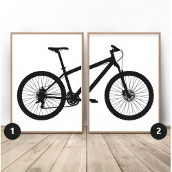 Zestaw 2 plakatów z rowerem...