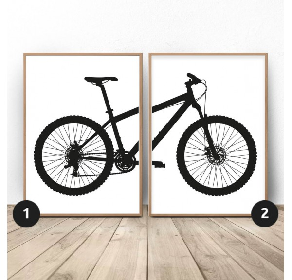 Set of 2 posters with MTB mountain bike