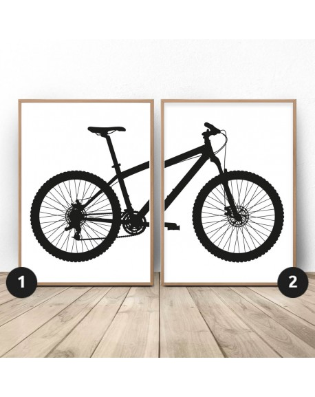 Zestaw 2 plakatów z rowerem górskim MTB