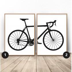 Zestaw 2 plakatów z rowerem szosowym