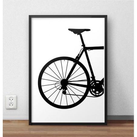 Plakat z tyłem roweru szosowego
