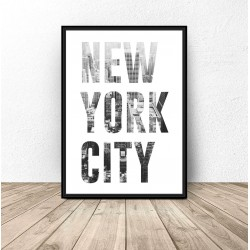 Plakat z napisem NEW YORK CITY