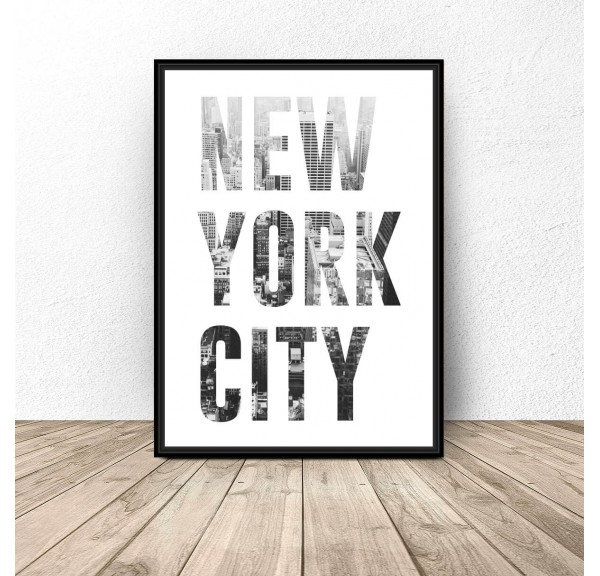 Poster with the inscription NEW YORK CITY