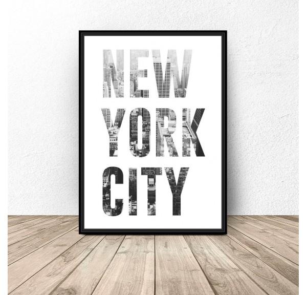 Plakat z napisem NEW YORK CITY