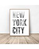 Zestaw dwóch plakatów New York City 2