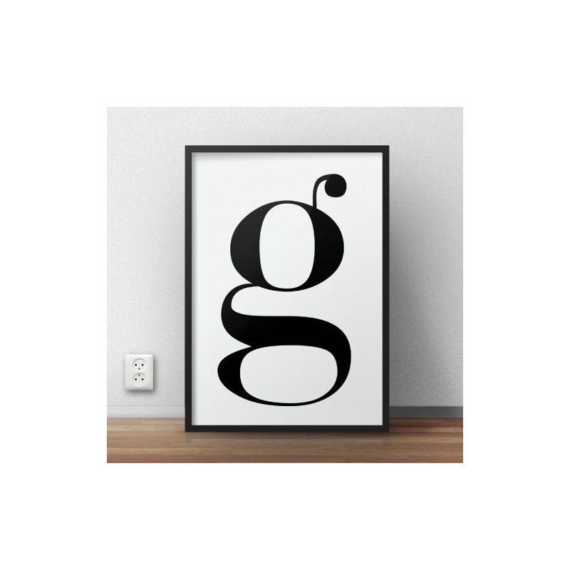 Poster with lowercase letter g