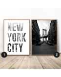 Set of two New York City posters