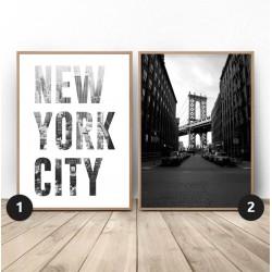 """Zestaw dwóch plakatów """"New York City"""""""