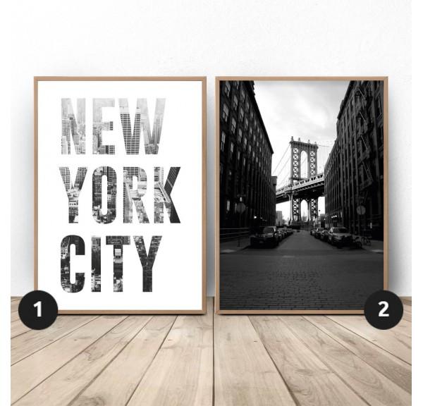 Zestaw dwóch plakatów New York City