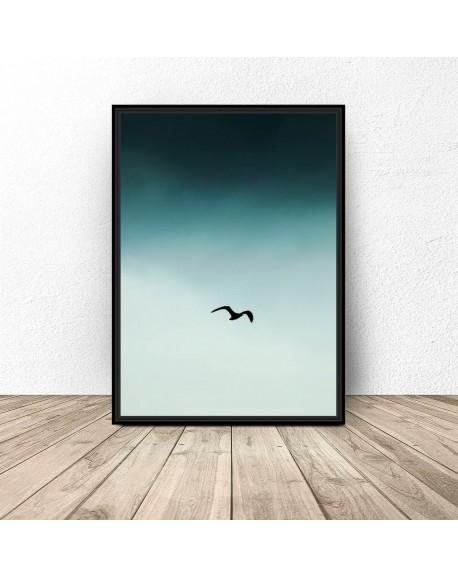 """Plakat na ścianę """"Ptak na niebie"""""""