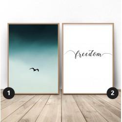 """Zestaw dwóch plakatów """"Wolny ptak"""""""