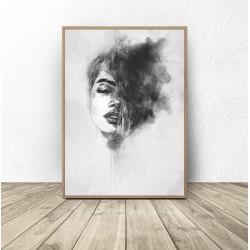 """Czarno-biały plakat """"Kobieta w akwarelach"""""""