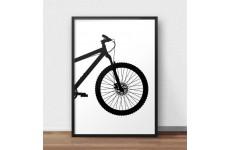 Plakat z przodem roweru górskiego MTB do oprawienia w ramy i powieszenia na ścianie