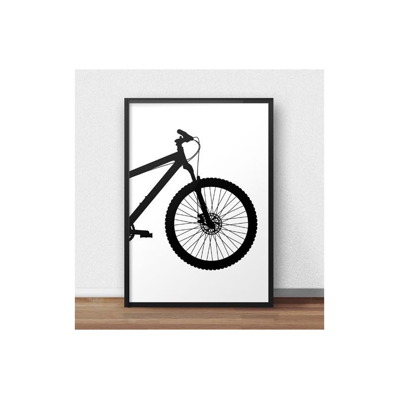 Poster with front of mtb mountain bike