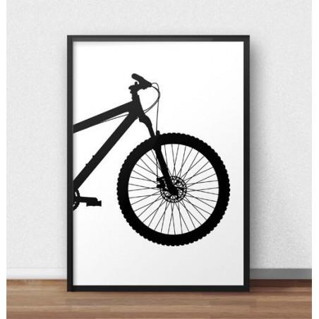 Plakat z przodem roweru górskiego MTB