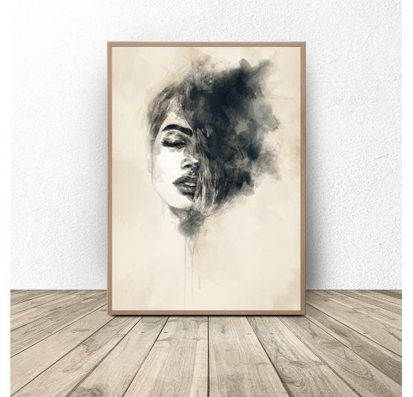 Decorative poster Woman in watercolors
