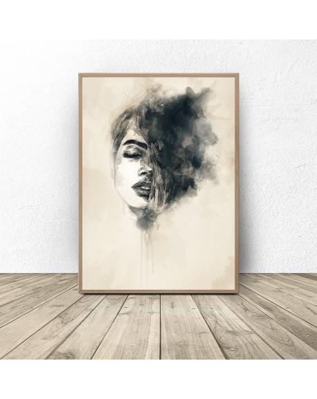 """Plakat dekoracyjny """"Kobieta w akwarelach"""""""