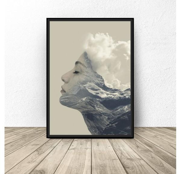 Modern poster Mountain Woman