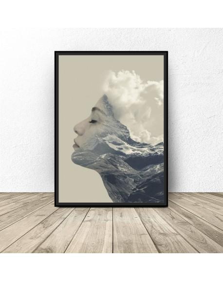 """Nowoczesny plakat """"Górska kobieta"""""""
