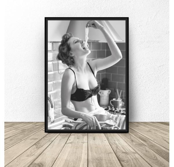 Plakat do kuchni I love spaghetti