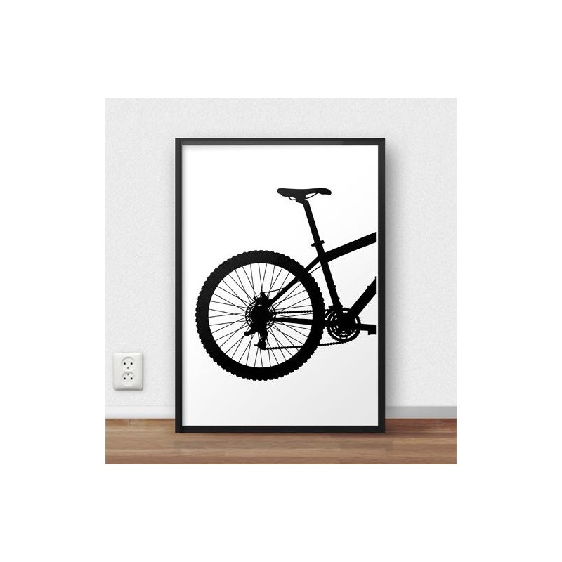 Poster with the back of the MTB mountain bike