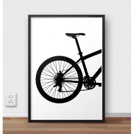 Plakat z tyłem roweru górskiego MTB