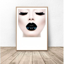 "Plakat glamour ""Black lips"""