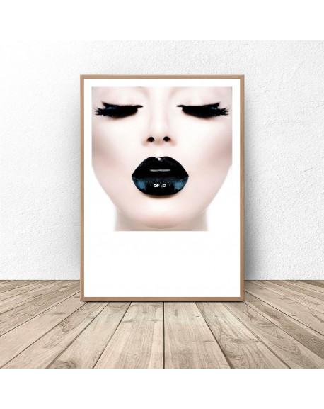 """Plakat glamour """"Black lips"""""""